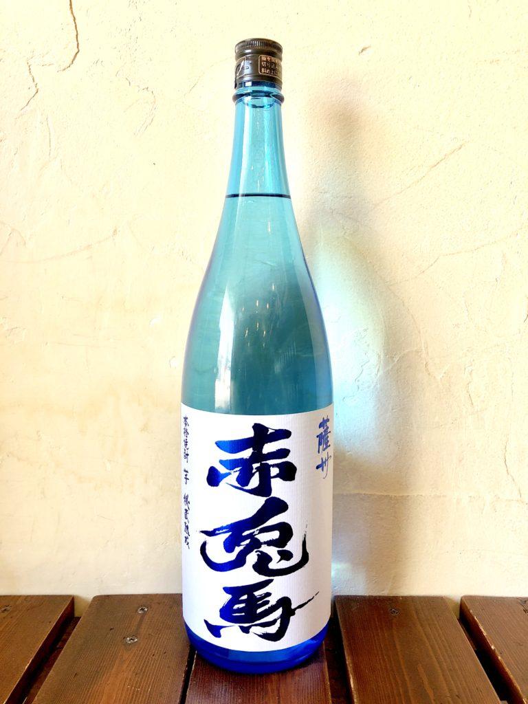 芋焼酎20° 「赤兎馬(せきとば)ブルーボトル」 (鹿児島県/濱田酒造)